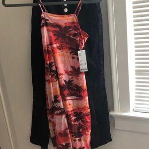 hawaiin style urban outfitters mini dress